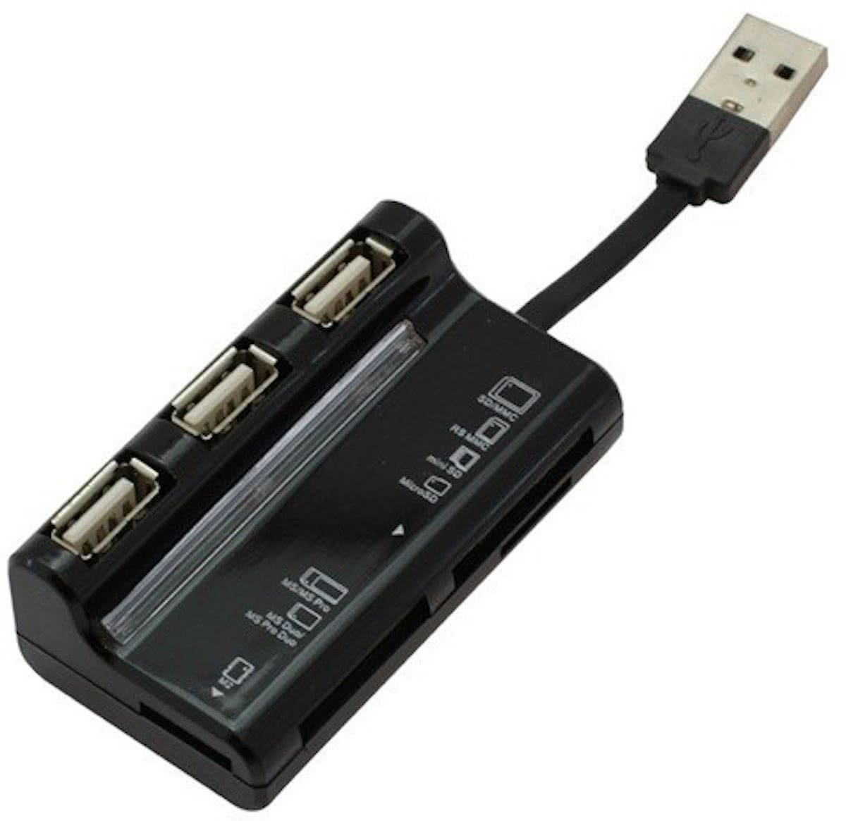 USB-kaartlezer alles-in-een en 3 port USB-hub USB 2.0 ON410