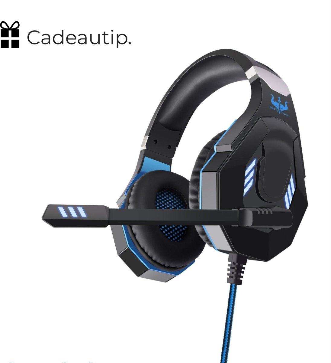 Ovleng GT93 RGB Gaming Headset - Zwart/Blauw | Stereo Gaming Headset - LED Game Headset - Geschikt voor o.a. PS4, Xbox, PC, Smartphone, Tablet, Switch & meer!