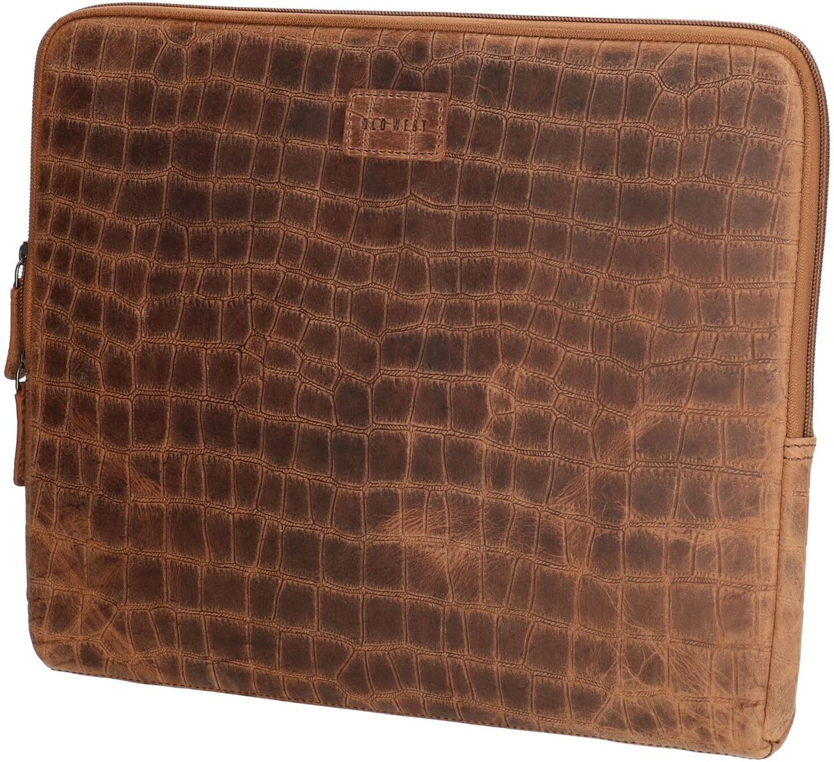 Old West San Angelo - Leren Laptop Cover / Laptopsleeve - 13 inch - bruin