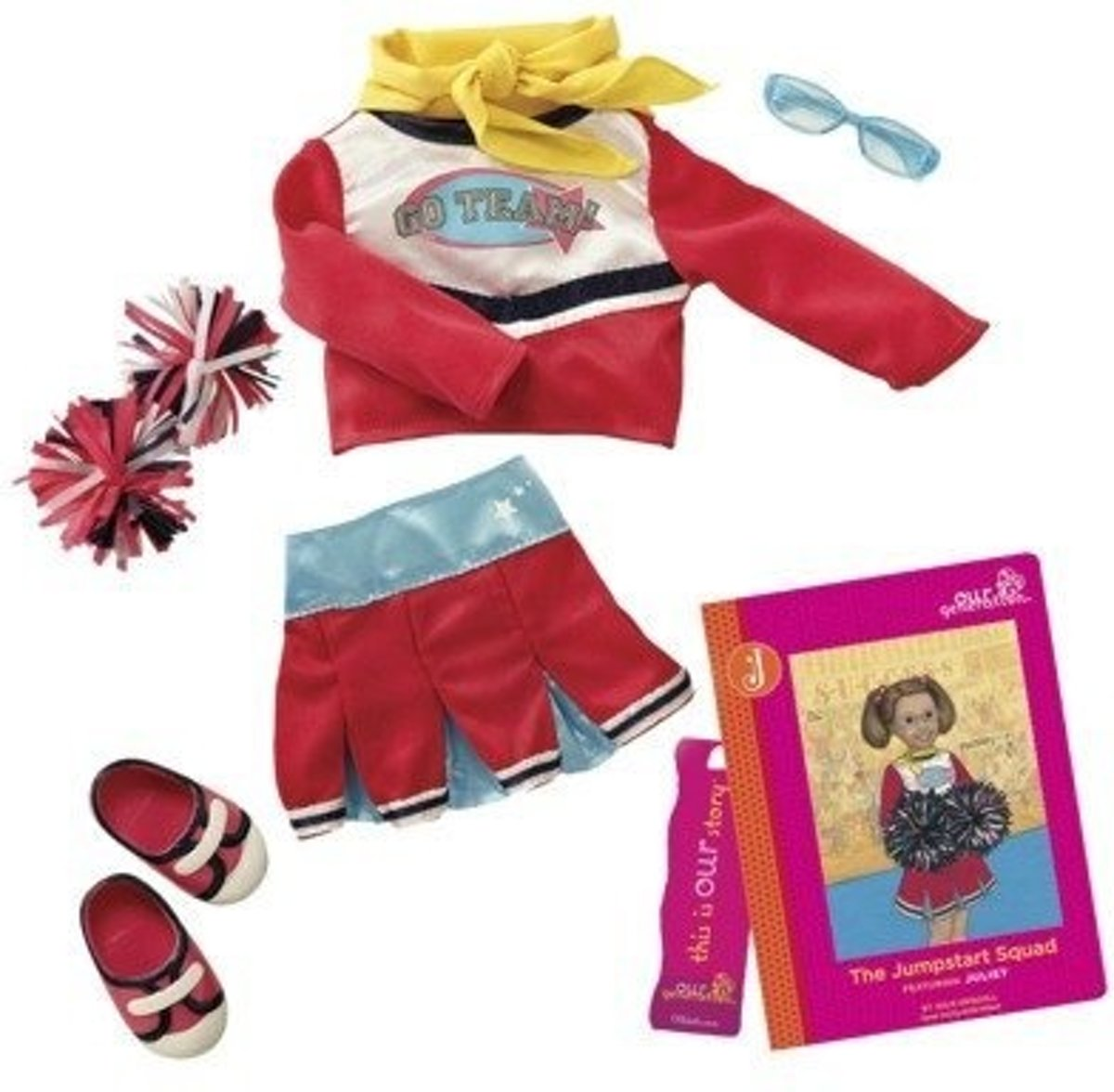 Juliets Read & Play Set Rood 46 Cm