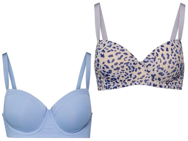 2 dames BH\s 85C, Blauw/all-over-print