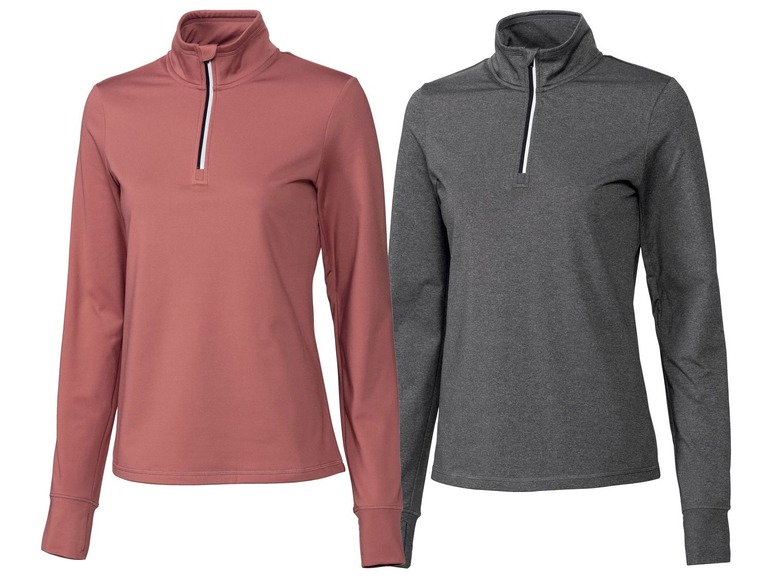 2 dames hardloopshirts S (36/38), Roest/grijs