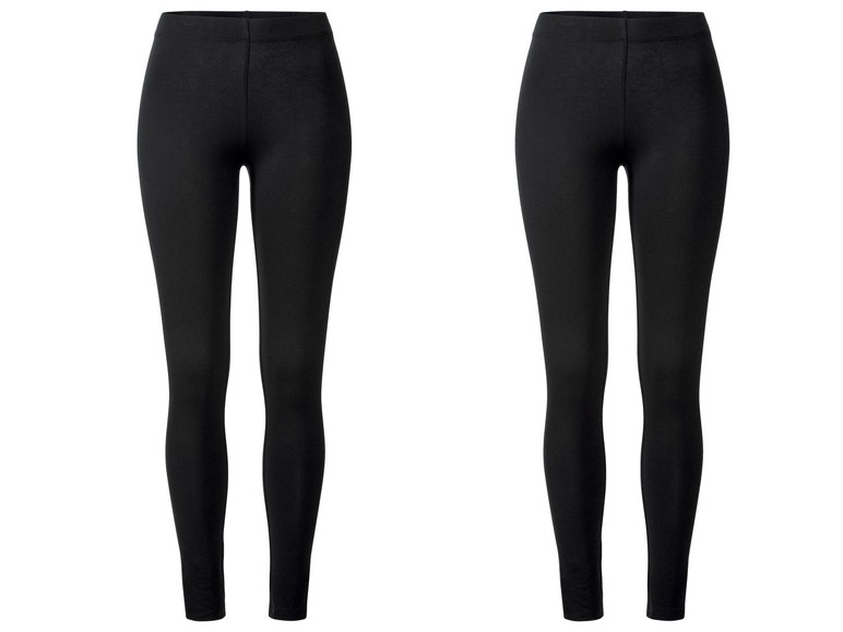 2 dames leggings XS (32/34), Zwart