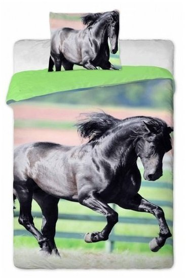 Animal Picture   Paard Black Beauty 140x200 + 70x90cm