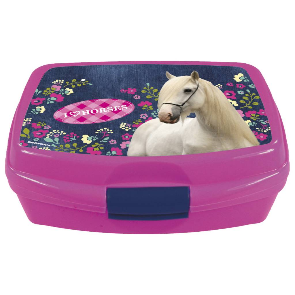 Animal Pictures Lunchbox I Love Paarden