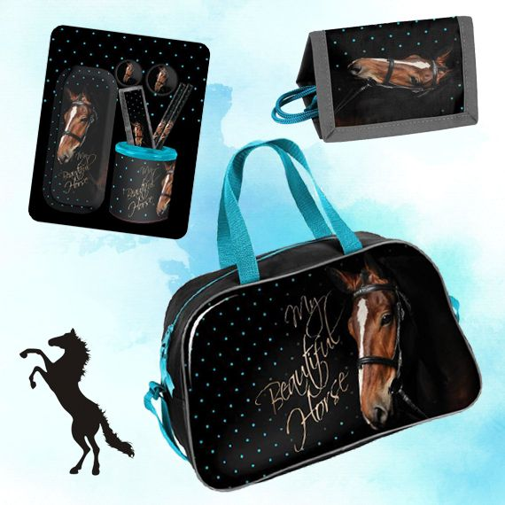 Animal Pictures My Lovely Horse Cadeau Set Paarden - 1 tas, 1 portemonnee, 1 stationery set