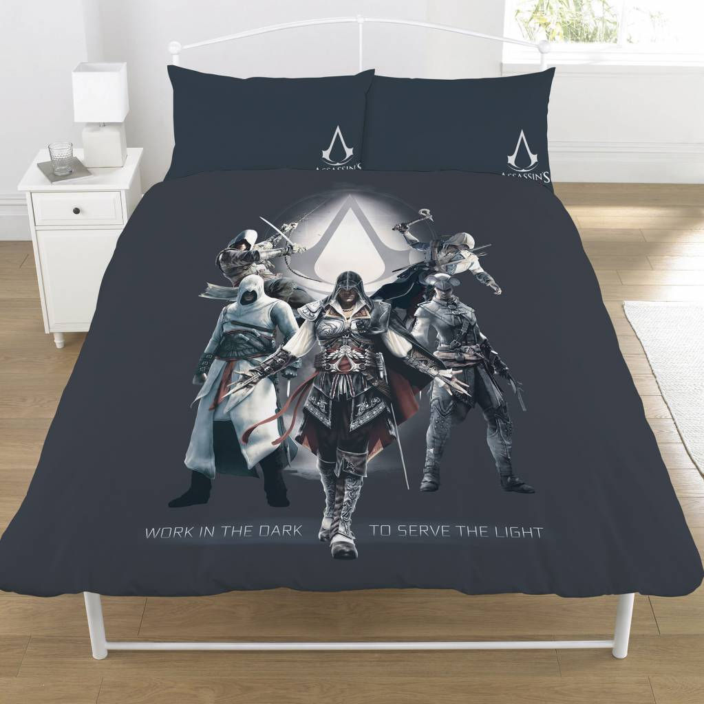Assassins Creed   Serve the Light tweepersoons 200 x 200 cm + 2 kussenslopen 50x75cm - Polycotton