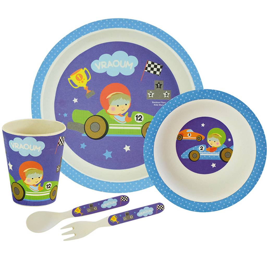Bambou lunchset Coureur - 5 delig