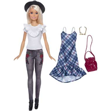 Barbie Fashionista Denim Floral set