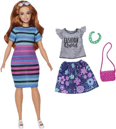 Barbie Fashionista Rainbow Rave set