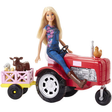 Barbie boerin pop met tractor