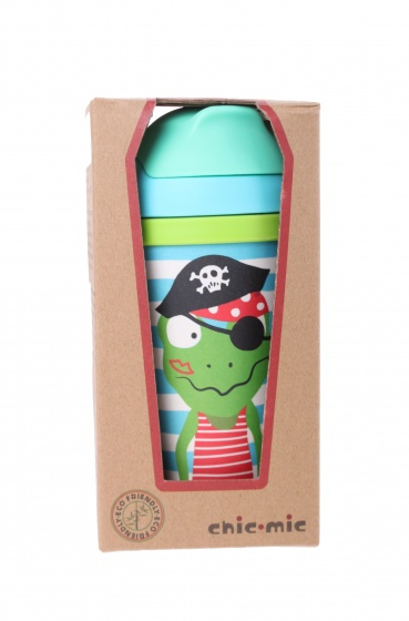 Chic.Mic drinkbeker Piratenschat Quaky 300 ml blauw
