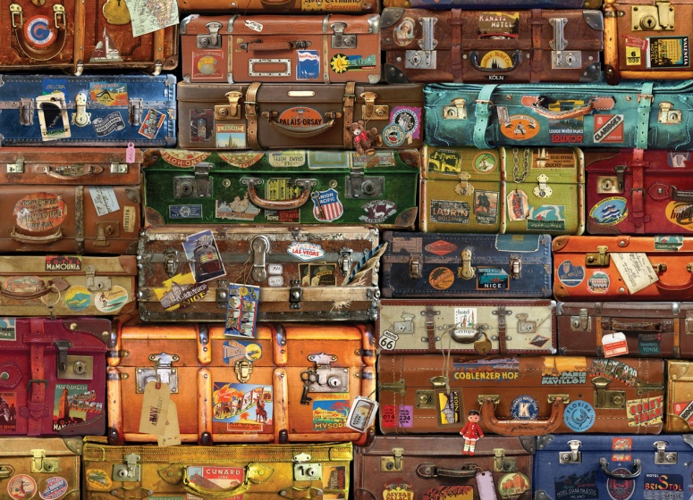 Cobble Hill Legpuzzel Luggage 1000 stukjes