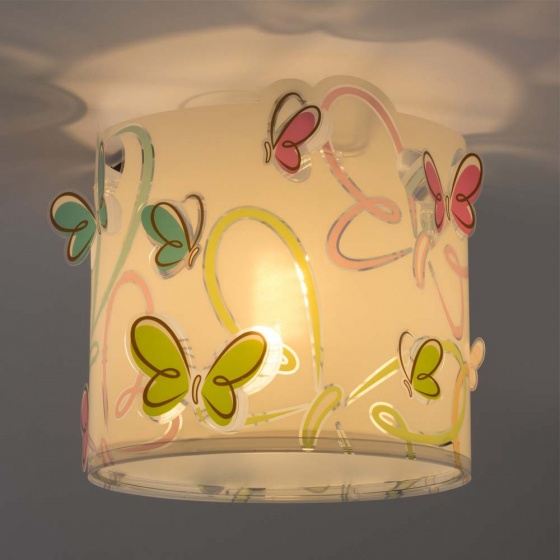 Dalber hanglamp Shade Butterfly 25 cm wit