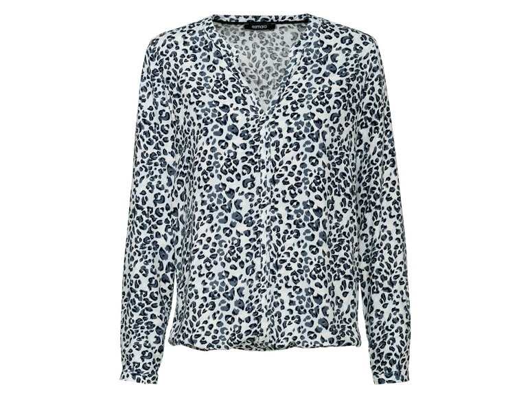 Dames blouse 36, All-over-print/wit