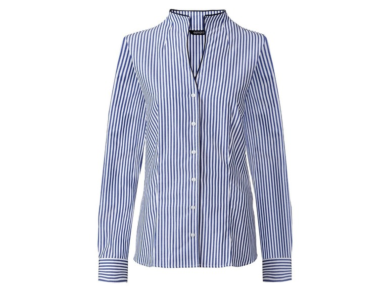 Dames blouse 44, Donkerblauw/gestreept