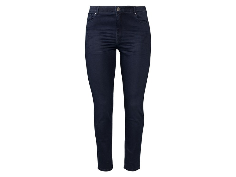 Dames jeans super skinny plus size 48, Donkerblauw