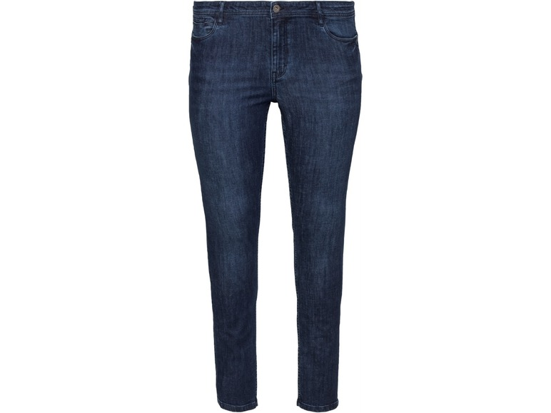Dames skinny jeans plus size 54, Donkerblauw