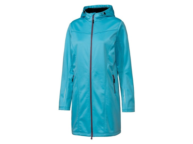 Dames softshell jas L (44/46), Turquoise
