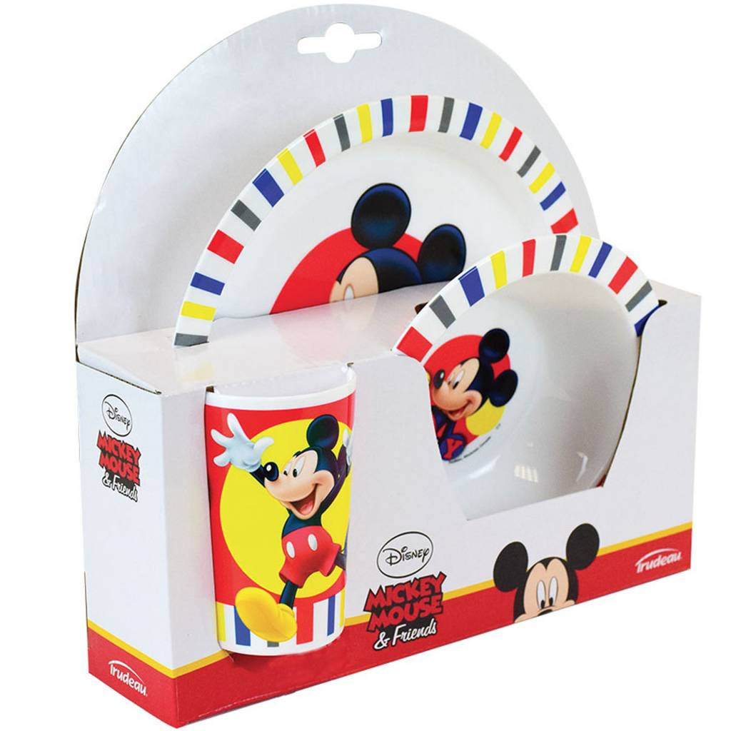 Disney Mickey Mouse Lunch set - 3 delig