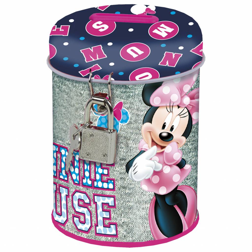 Disney Minnie Mouse Spaarpot Cute - 11,5 x 7,5 x 7,5 cm