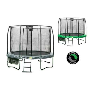 EXIT JumpArena trampoline All-In-One rond - 305 cm - groen