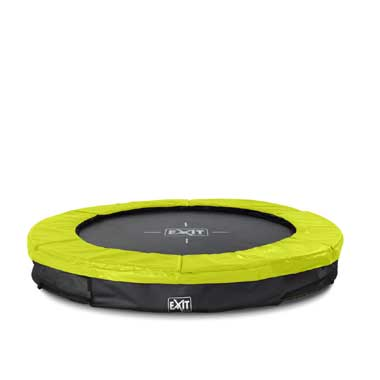 EXIT Silhouette verlaagde trampoline rond - 183 cm - limegroen