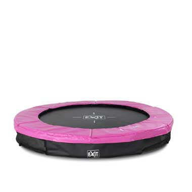 EXIT Silhouette verlaagde trampoline rond - 183 cm - roze