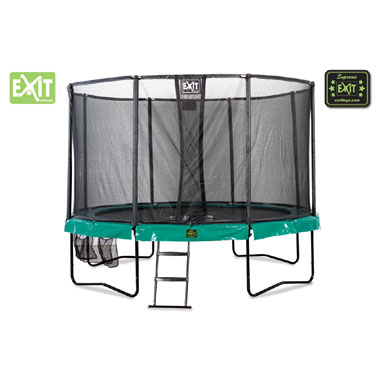 EXIT Supreme all-in-1 trampoline rond - 305 cm - donkergroen