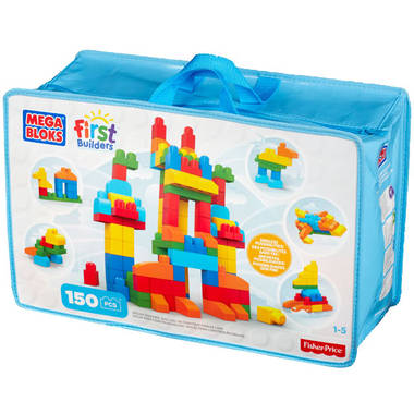 Fisher-Price Mega Bloks First Builders deluxe building bag constructiespeelgoed bouwset