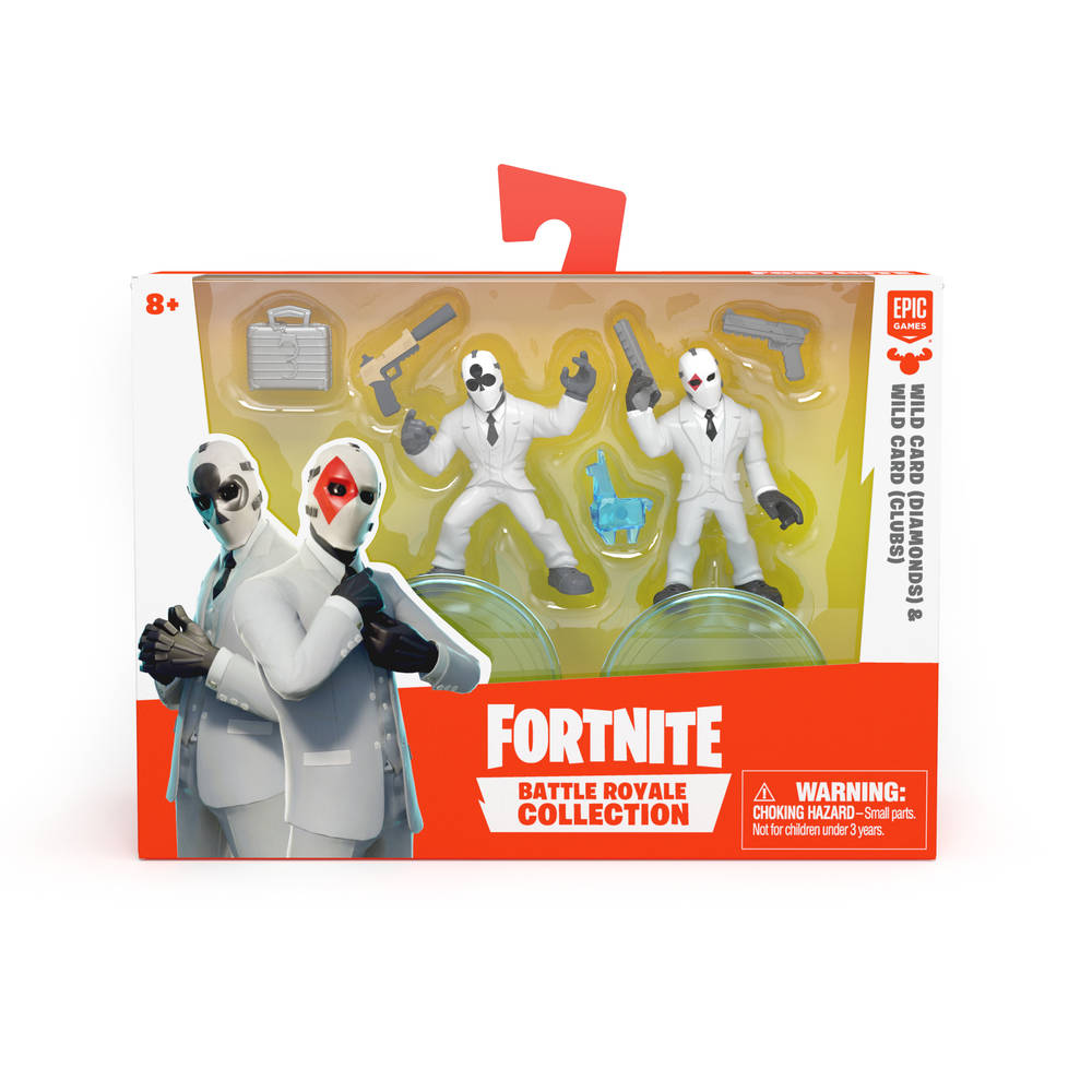 Fortnite Battle Royale Collection serie 3 figurenset Wild Card Clubs + Wild Card Diamonds