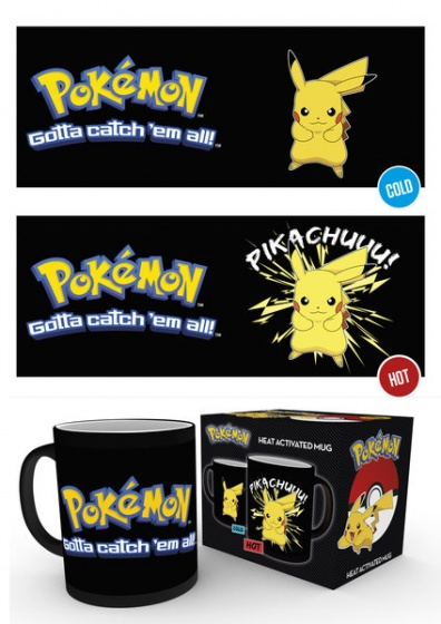 GB Eye warmtemok Pikachu zwart 300 ml