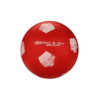 Get & Go voetbal - 21 cm - rood