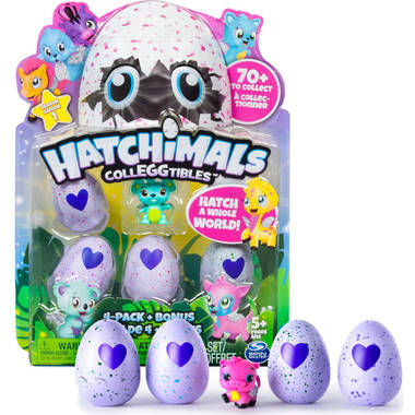 Hatchimals CollEGGtibles 4 pack + bonusfiguur