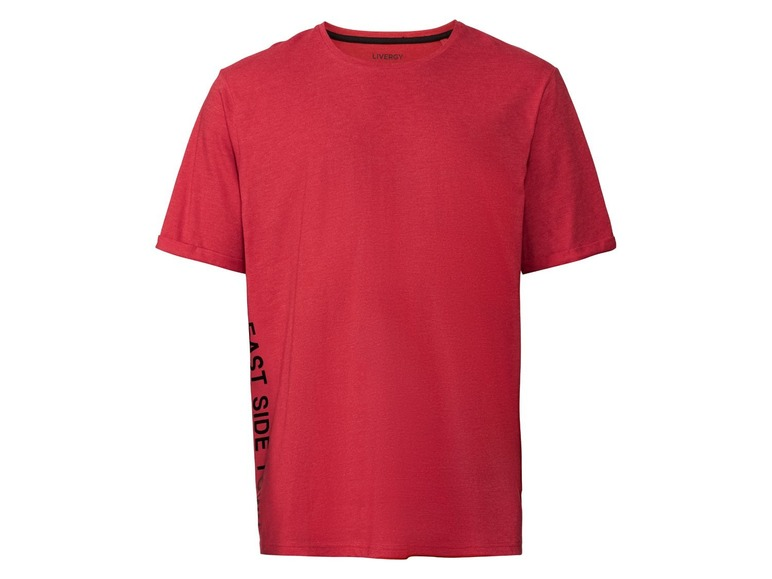 Heren T-shirt plus size 4XL (68/70), Rood