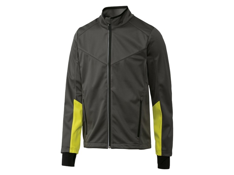 Heren functionele softshell jas XL (56/58), Antraciet/lime