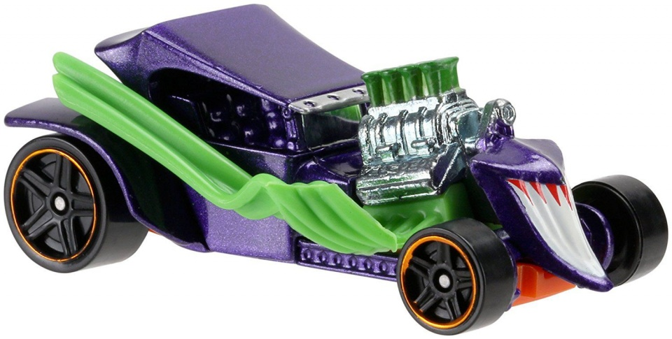 Hot Wheels DC Character Car The Joker 7 cm paars