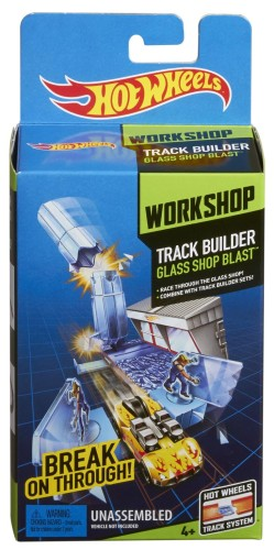 Hot Wheels track builder Glass Shop Blast