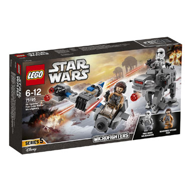 LEGO Star Wars Ski Speeder vs. First Order Walker microfighters 75195