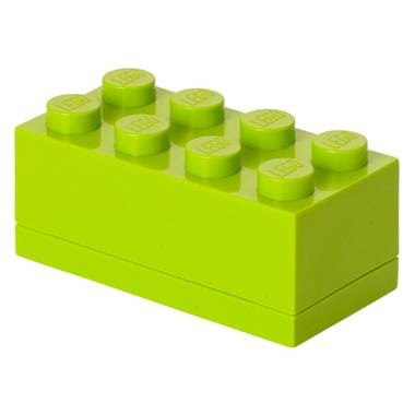 Lego 4012 mini brick box 2x4 lime groen