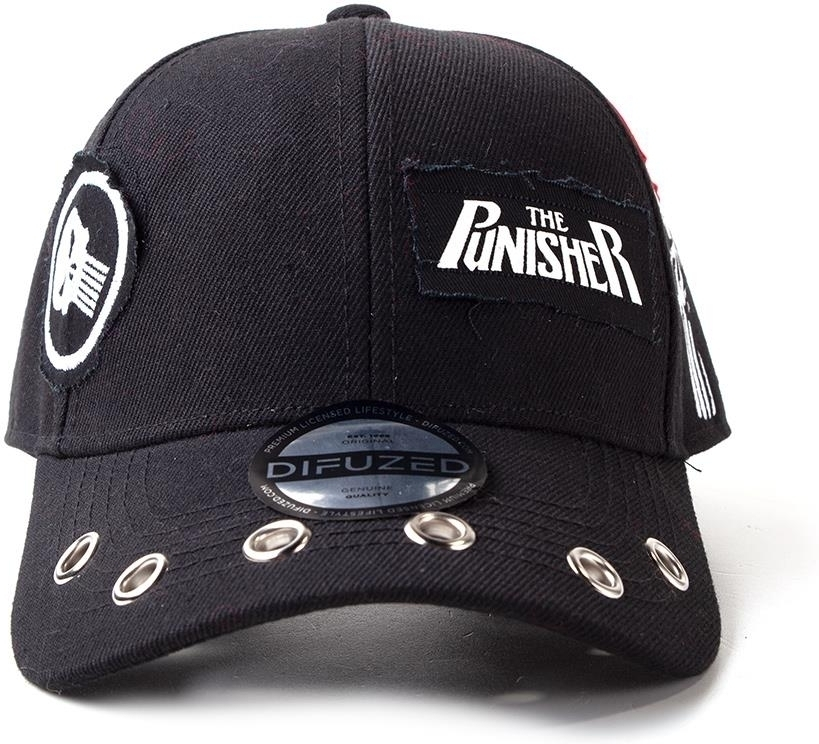 Marvel - Punisher Grunge Cap With Patches