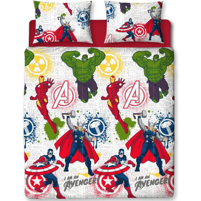 Marvel Avengers   Mission Tweepersoons 200 x 200 cm + 2 kussenslopen 50 x 75 cm - Polyester