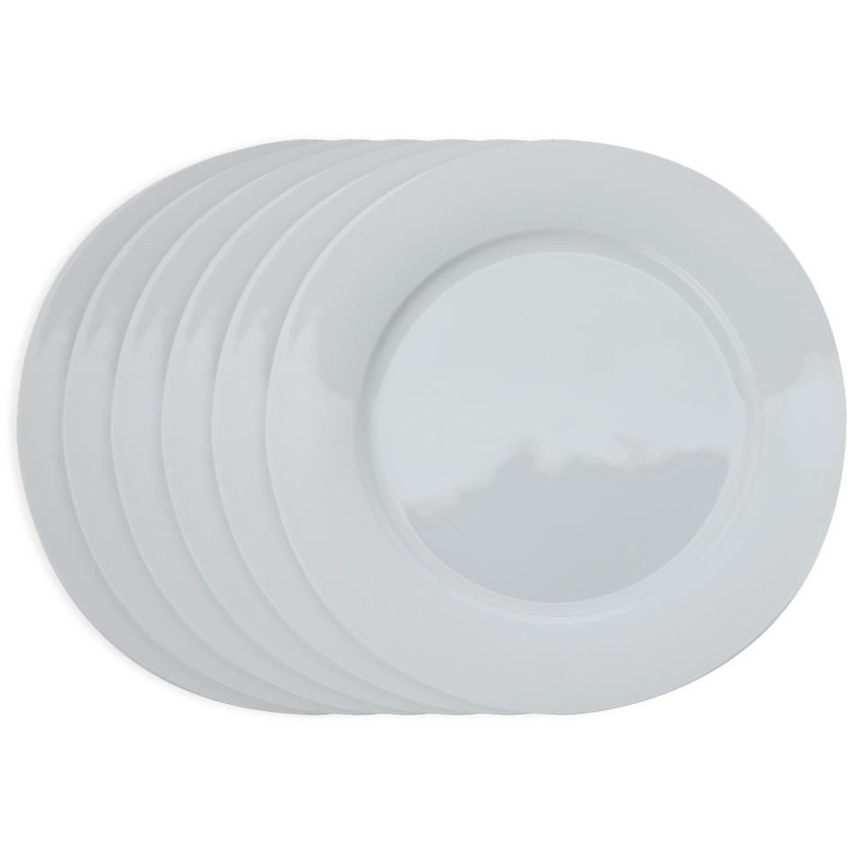 Maxwell and Williams Cashmere dinerbord met rand - Ø 27,5 cm - set van 6
