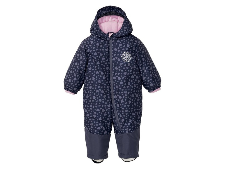 Meisjes winteroverall 104, Donkerblauw all-over-print