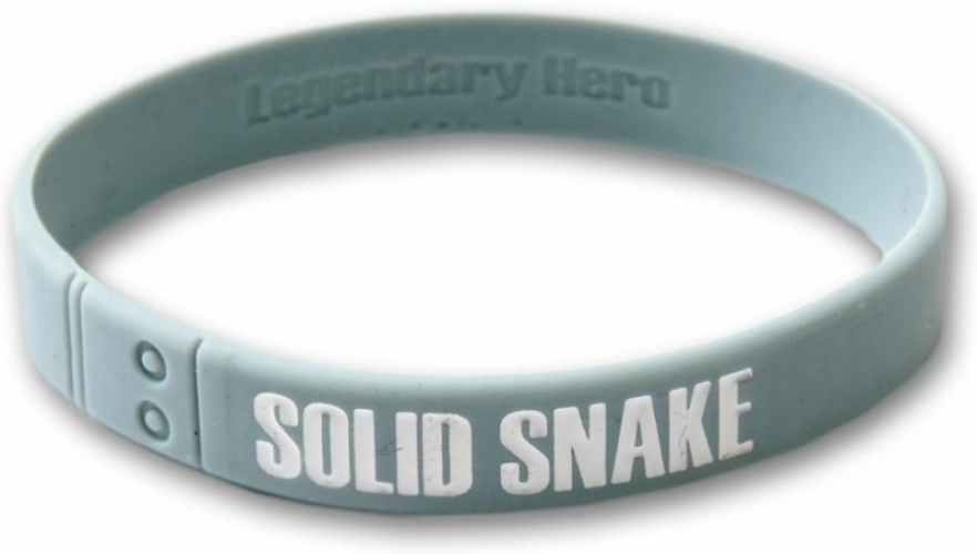 Metal Gear Solid Silicone Wristband Grey