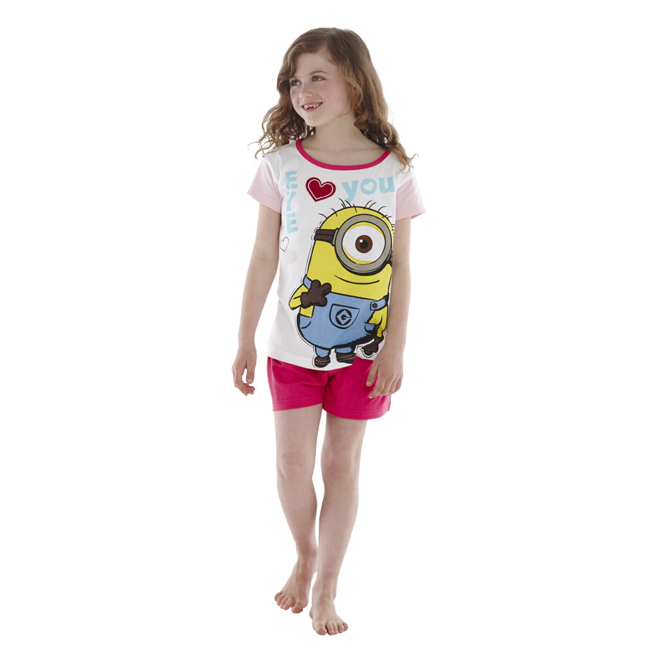 Minions shortama Eye Love You - maat 116/122