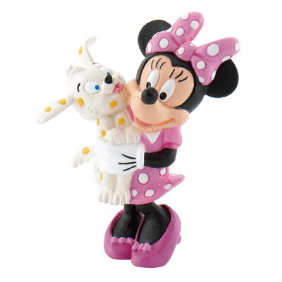 Minnie Mouse met puppy Bullyland