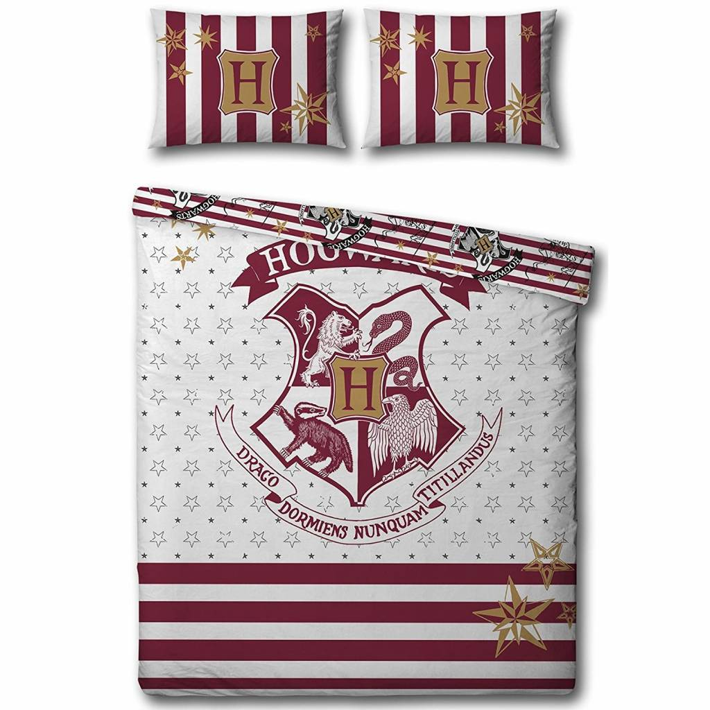 Muggles -   - tweepersoons - 200 x 200 cm - 48 x 74 cm - Polycotton