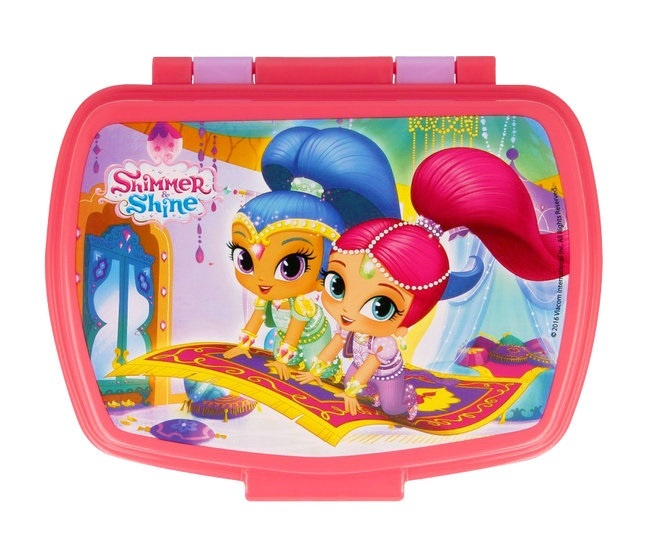 Nickelodeon broodtrommel Shimmer and Shine 170 mm paars/roze