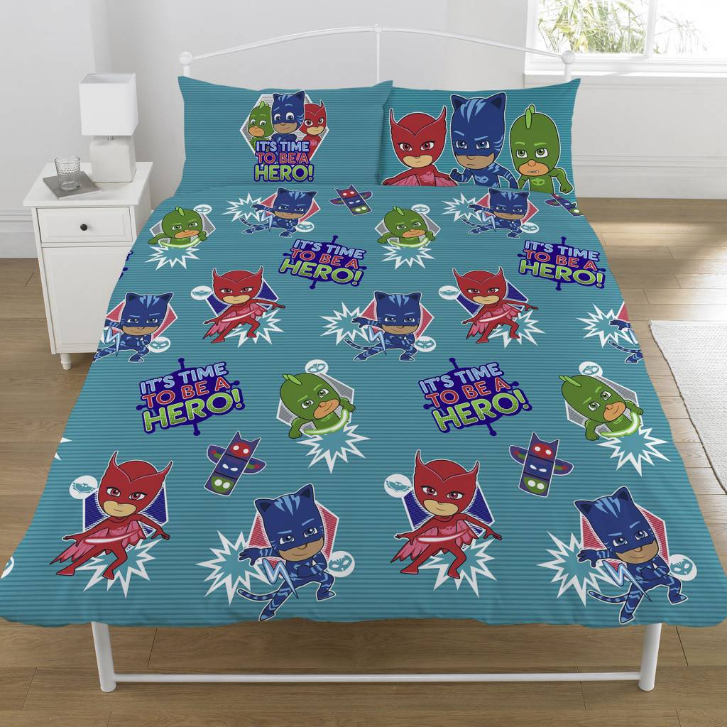PJ Masks  Be A Hero tweepersoons 200 x 200 cm + 2 kussenslopen 50 x 75 cm - Polycotton